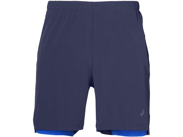 "asics 2-N-1 7"" Shorts Herr indigo blue/illusion blue"